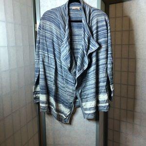 Loft 100% cotton open cardigan
